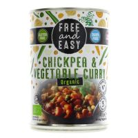 Free & Easy Organic Chickpea & Vegetable Curry 400g
